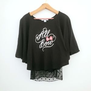 "Disney Parks ""All About the Bows"" Black Minnie Top"
